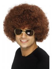 1970's Afro Wig In Brown